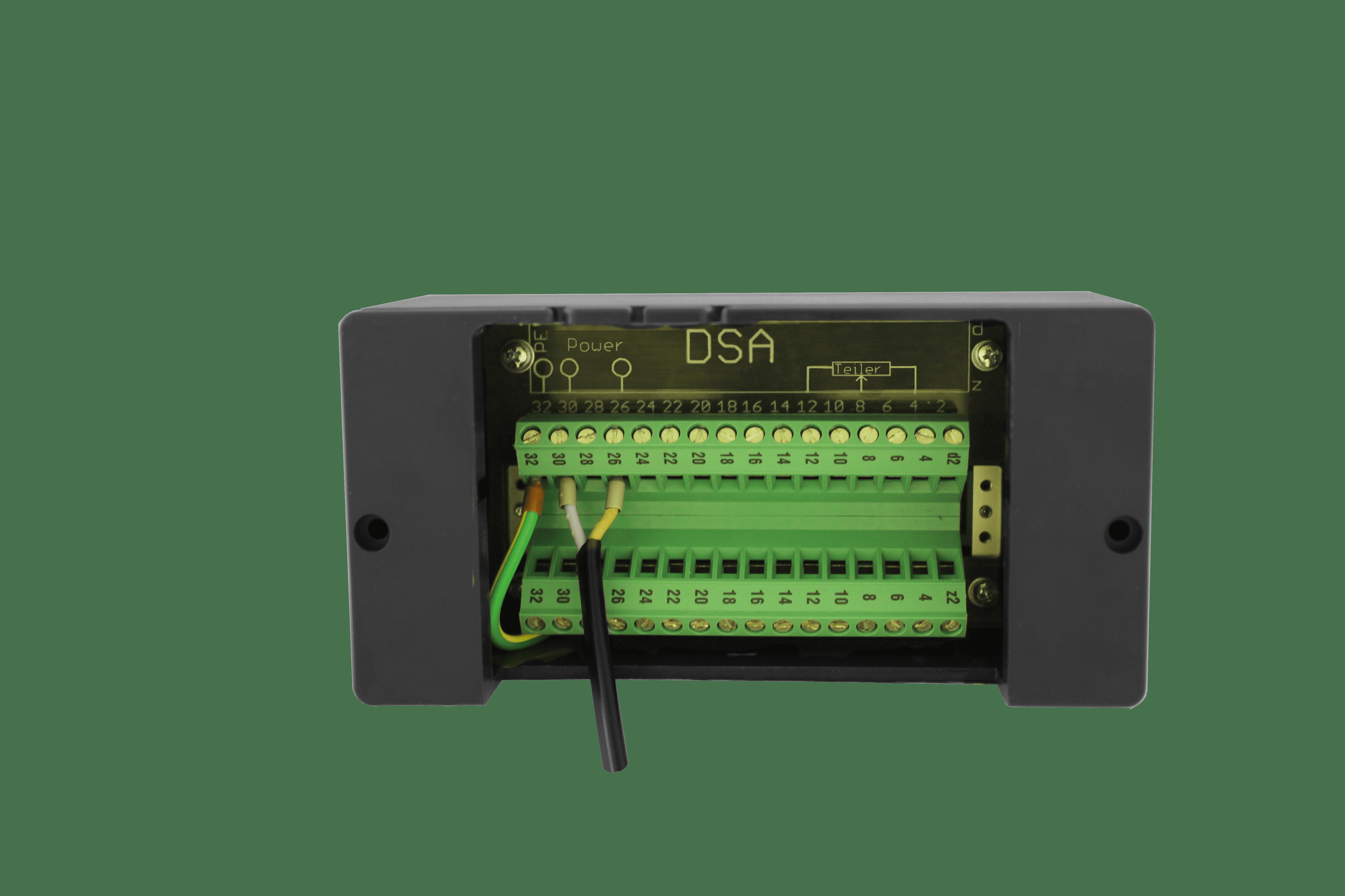 Anzeigegerät für Stufenschalterstellung (DSA) Rückansicht